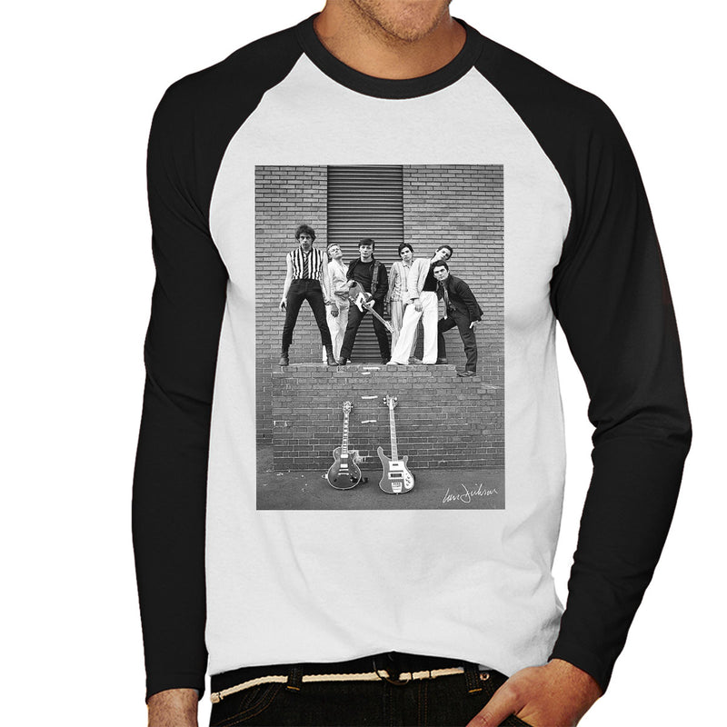 Boomtown Rats At Slough Technical College 1977 Men's Baseball Long Sleeved T-Shirt