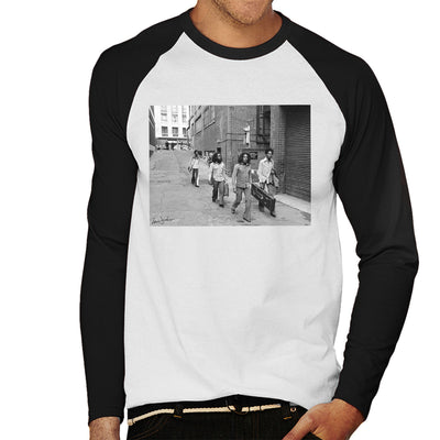 Bob Marley Arriving At Birmingham Odeon 1975 Men's Baseball Long Sleeved T-Shirt - Don't Talk To Me About Heroes
