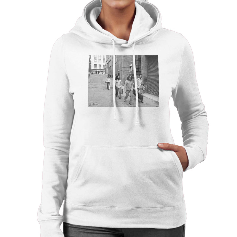 Bob Marley Arriving At Birmingham Odeon 1975 Women's Hooded Sweatshirt