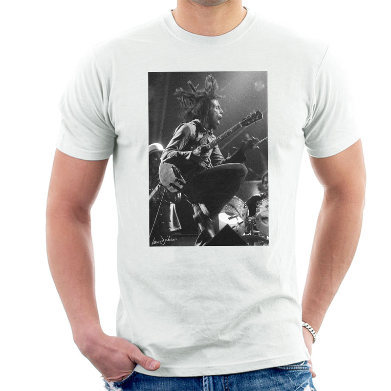Bob Marley On Stage At Birmingham Odeon 1975 Men's T-Shirt - Don't Talk To Me About Heroes