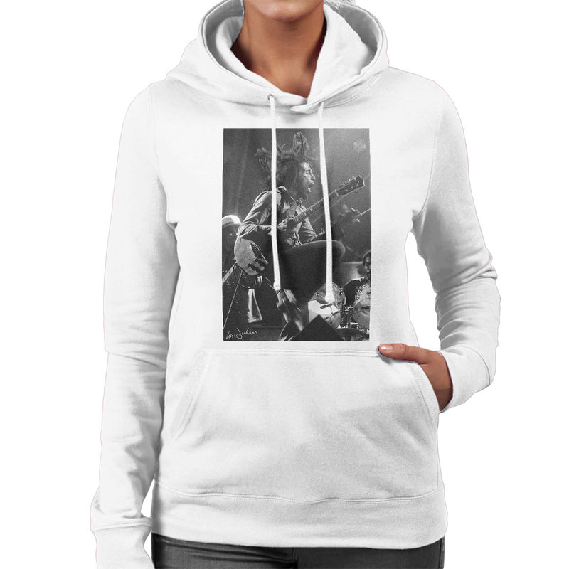 Bob Marley On Stage At Birmingham Odeon 1975 Women's Hooded Sweatshirt - Don't Talk To Me About Heroes