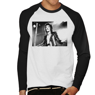 Faces Rod Stewart At Newcastle City Hall 1972 Men's Baseball Long Sleeved T-Shirt