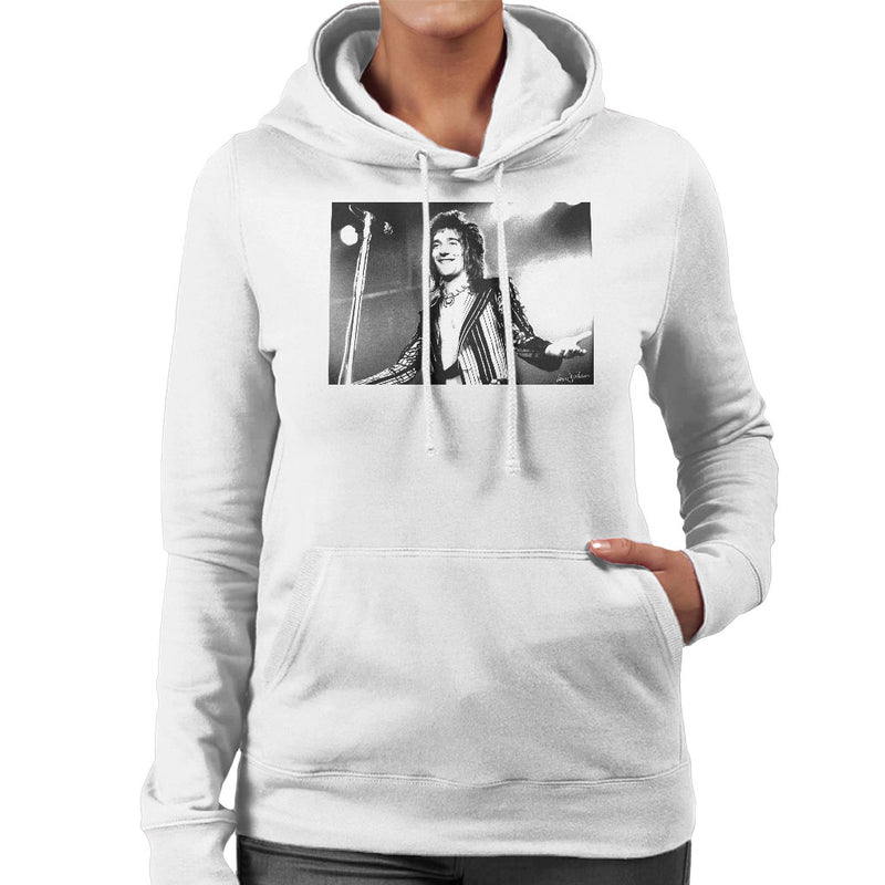 Faces Rod Stewart At Newcastle City Hall 1972 Women's Hooded Sweatshirt