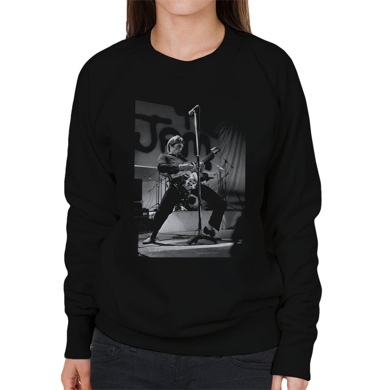 Paul Weller Rocking Out With The Jam 1977 Women's Sweatshirt - Don't Talk To Me About Heroes