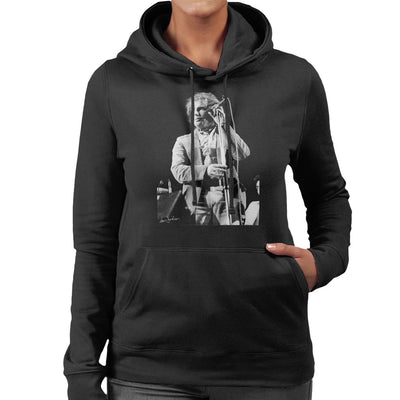Van Morrison Live Shot 1973 Women's Hooded Sweatshirt - Don't Talk To Me About Heroes