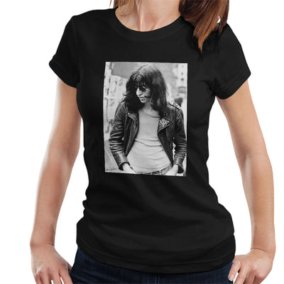 Joey Ramone Of The Ramones 1977 Women's T-Shirt - Don't Talk To Me About Heroes