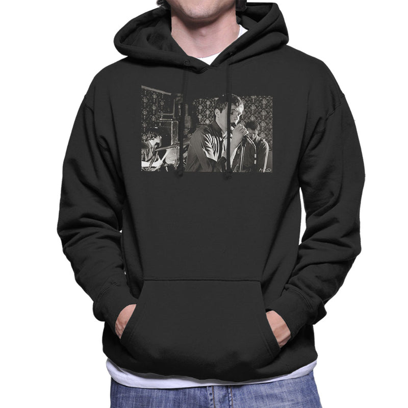 Ian Curtis Of Joy Division At Bowdon Vale Youth Club Men's Hooded Sweatshirt