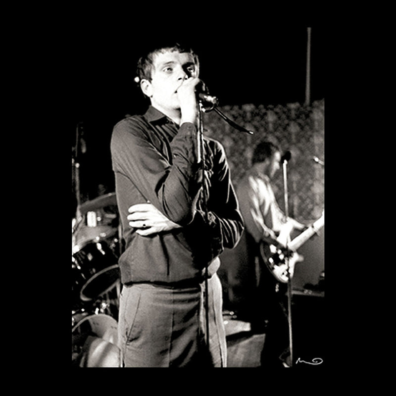 Ian Curtis Of Joy Division Singing At Bowdon Vale Youth Club Women's Hooded Sweatshirt