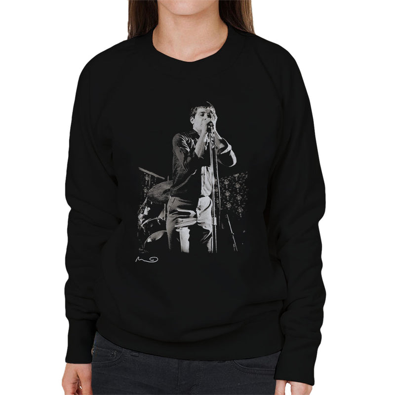 Ian Curtis Singing At Bowdon Vale Youth Club Joy Division Women's Sweatshirt