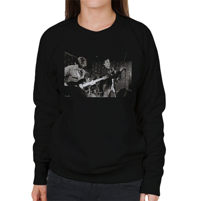Joy Division Live Bernard And Ian Closeup Bowdon Vale Youth Club Women's Sweatshirt