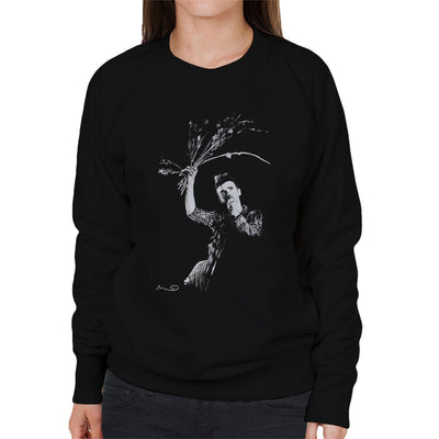 Morrissey Of The Smiths Swinging Flowers At Free Trade Hall Manchester Women's Sweatshirt