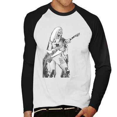 Johnny Winter Gibson Firebird 1974 Men's Baseball Long Sleeved T-Shirt - Don't Talk To Me About Heroes