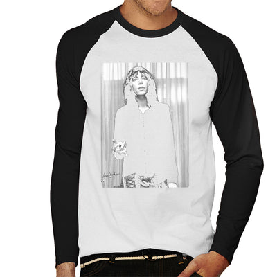 Patti Smith Smoking 1976 Men's Baseball Long Sleeved T-Shirt - Don't Talk To Me About Heroes