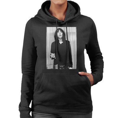 Patti Smith Smoking 1976 Women's Hooded Sweatshirt - Don't Talk To Me About Heroes