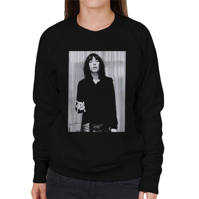 Patti Smith Smoking 1976 Women's Sweatshirt - Don't Talk To Me About Heroes