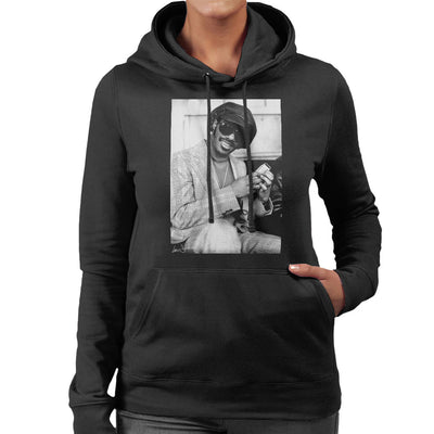 Stevie Wonder London Interview 1974 Women's Hooded Sweatshirt - Don't Talk To Me About Heroes