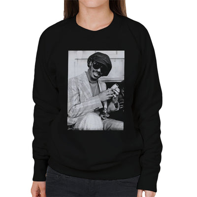 Stevie Wonder London Interview 1974 Women's Sweatshirt
