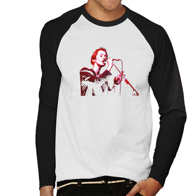 Suzanne Vega 1994 Men's Baseball Long Sleeved T-Shirt - Don't Talk To Me About Heroes
