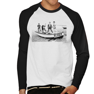 X Ray Spex Beach Photo Shoot 1977 Men's Baseball Long Sleeved T-Shirt - Don't Talk To Me About Heroes