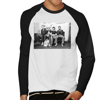 XTC Backstage 1977 Men's Baseball Long Sleeved T-Shirt