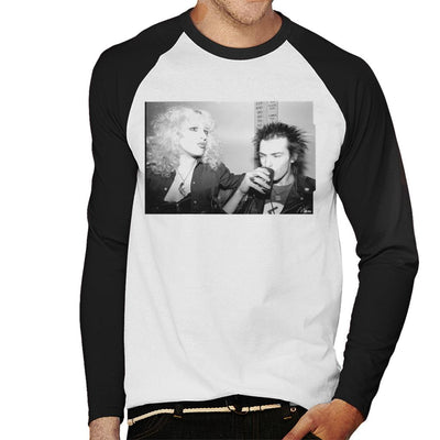 Sid Vicious And Nancy Spungen Drinking In London 1978 Men's Baseball Long Sleeved T-Shirt - Don't Talk To Me About Heroes
