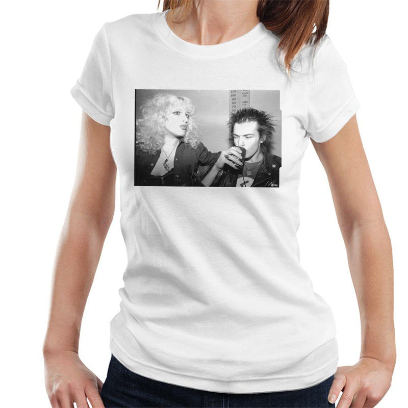 Sid Vicious And Nancy Spungen Drinking In London 1978 Women's T-Shirt