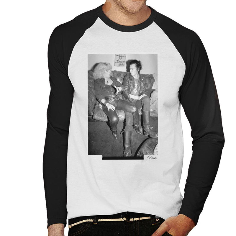 Sid Vicious And Nancy Spungen Hanging Out London 1978 Men's Baseball Long Sleeved T-Shirt - Don't Talk To Me About Heroes