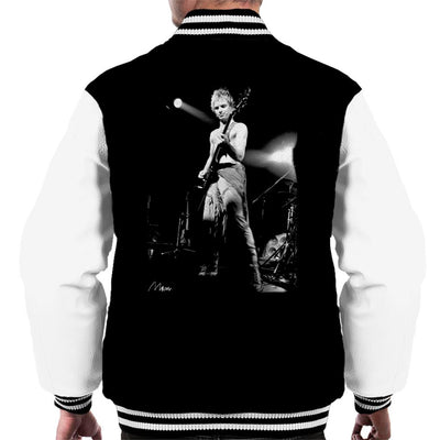 Sting On Bass Live The Police Men's Varsity Jacket - Don't Talk To Me About Heroes