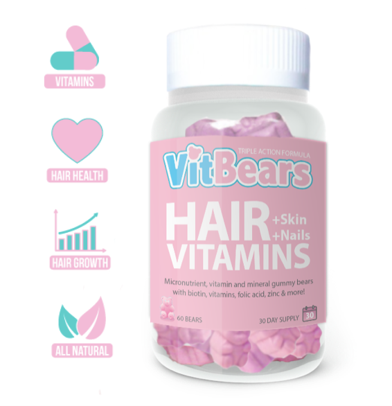 VITBEARS HAIR BEARS, HAIR GUMMIES, HAIR VITAMINS, HAIR SUPPLEMENTS, SKIN AND NAIL VITAMINS