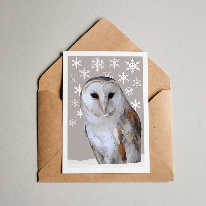 Barn Owl Christmas Card