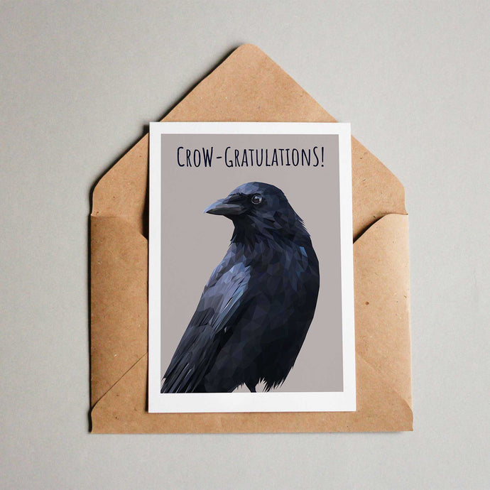 Crow congratulations card