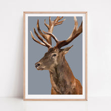 Red Deer Stag  |   Jungle Teal