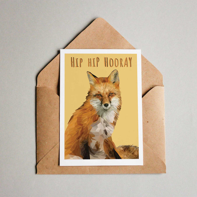 Hip Hip Hooray Fox Card