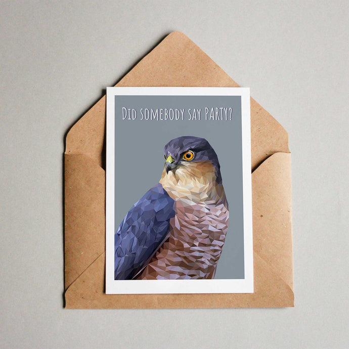 Sparrowhawk Party Card