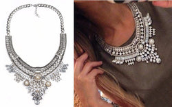 Aphrodite Goddess Crystal Statement Fashion Necklace