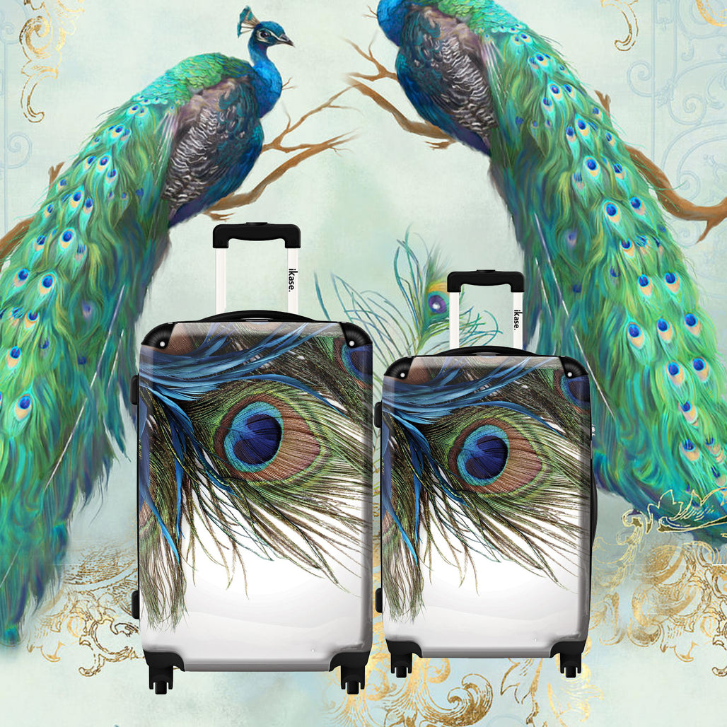 Suitcase Peacock feather