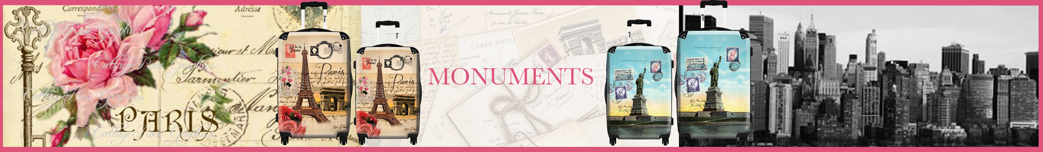 Monuments suitcases collection by Ikase