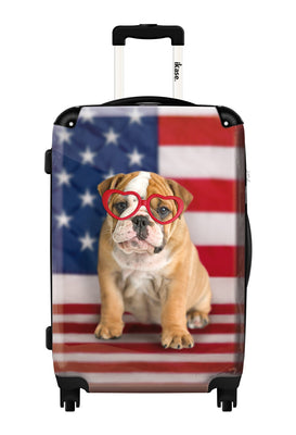 American Dog Flag Hardside,Spinner Suitcase by Ikaseusa