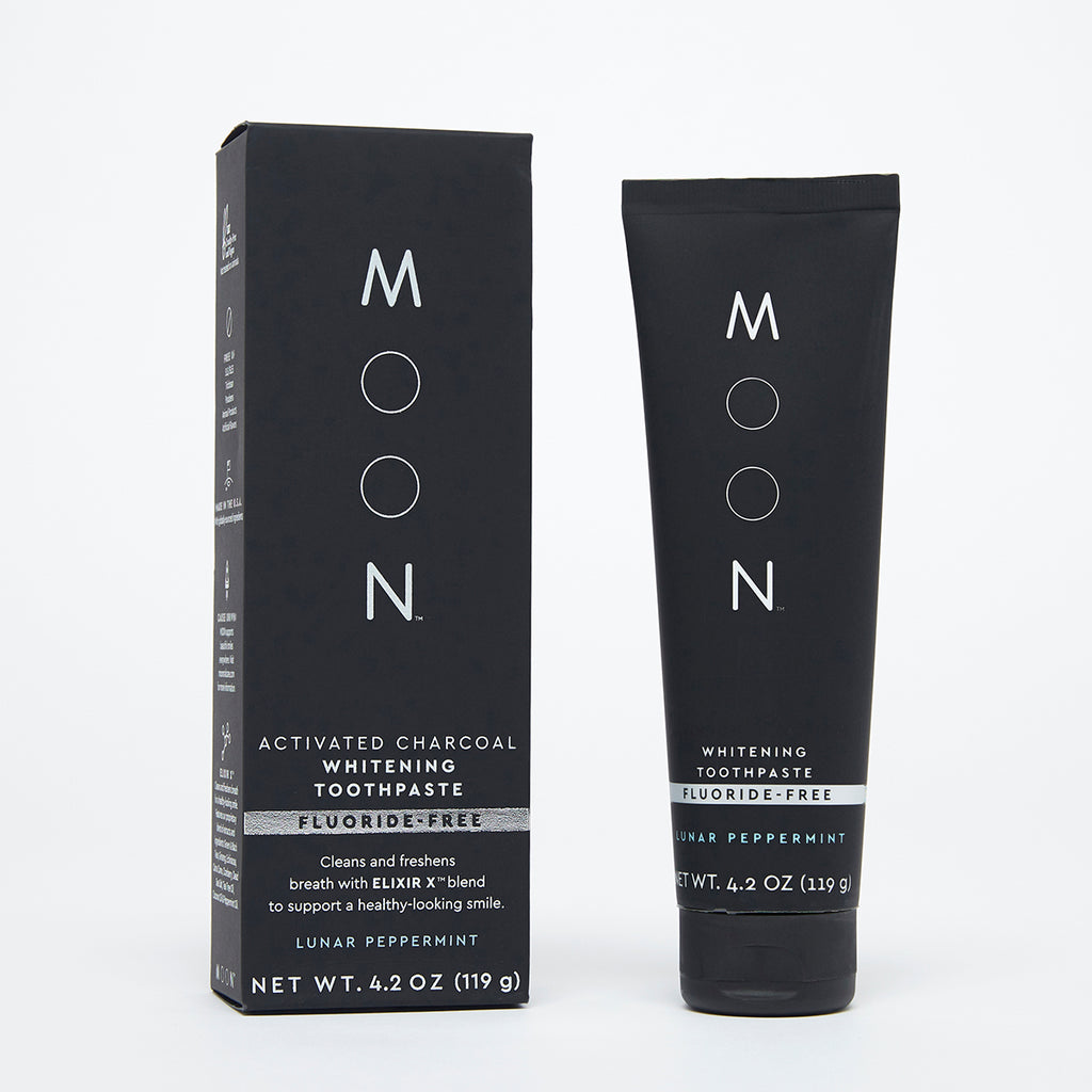 Moon Oral Care Activated Charcoal Fluoride-Free Whitening Toothpaste