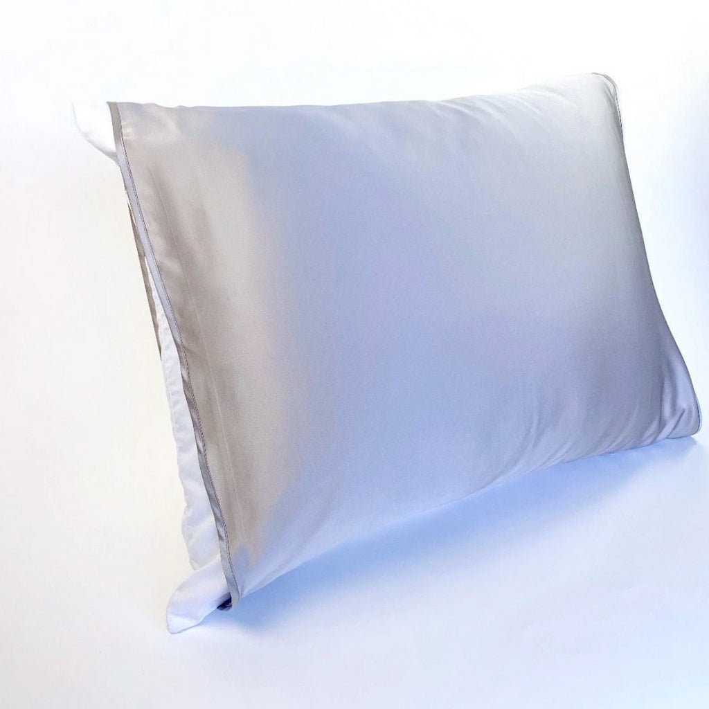 Silked Grey Silk Pillow Sleeve