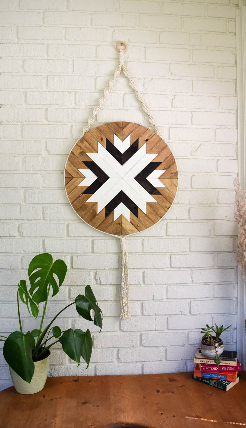 Starling - Round Macrame Wood Wall Art Hanging