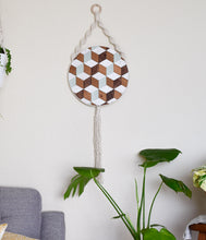 Deja Vu - Round Macrame Wood Wall Art Hanging