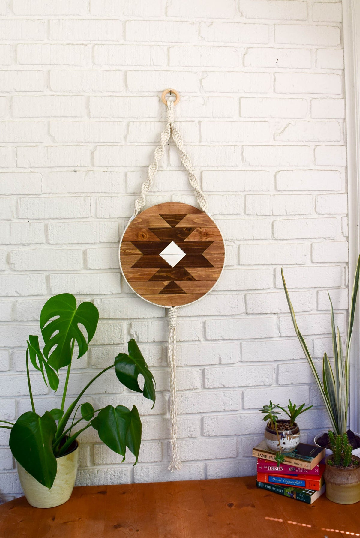 Carme - Round Macrame Wood Wall Art Hanging