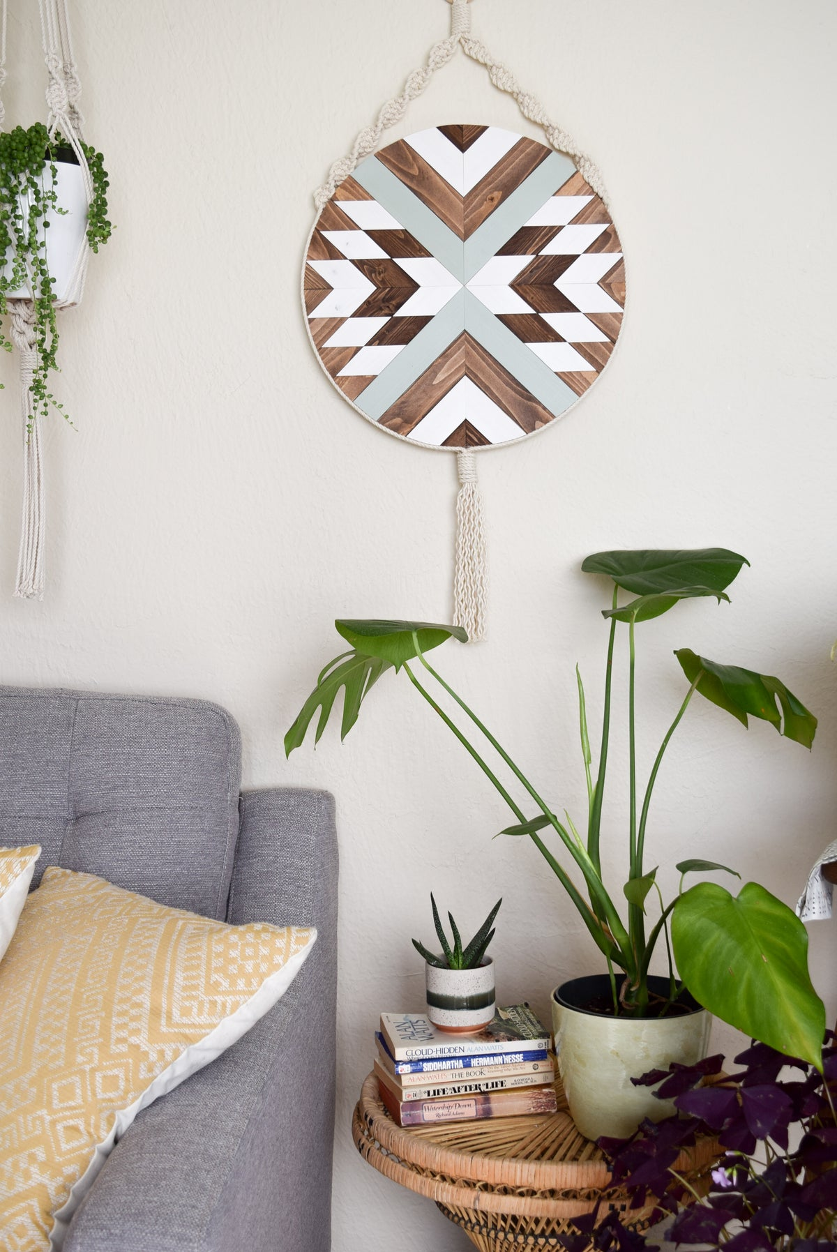 Solana -  Round Macrame Wood Wall Art Hanging