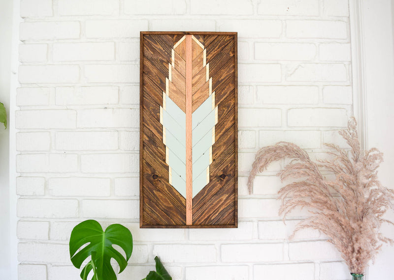 Scissortail Feather Wood Artwork