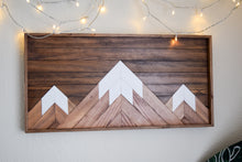 Mountain Peaks Wood Artwork