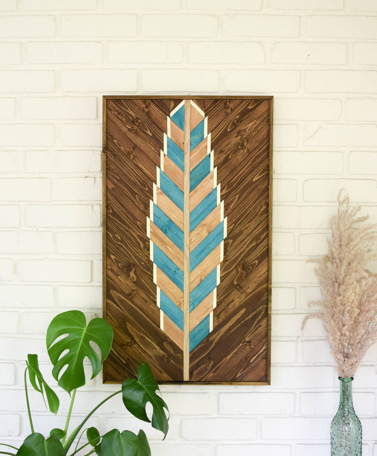 BLUEBIRD Wood Wall Art - Wooden Wall Art - Geometric Wood Art - Wooden Wall Art Hanging - Modern Wood Art - Boho Wood Art - Wood Wall Decor