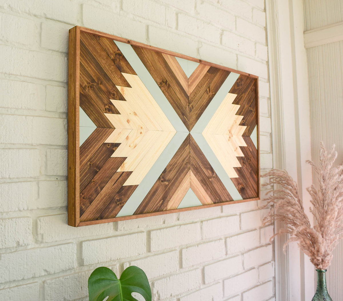 INDRA Wood Wall Art - Wooden Wall Art - Geometric Wood Art - Wooden Wall Art Hanging - Modern Wood Art - Boho Wood Art - Wood Wall Decor