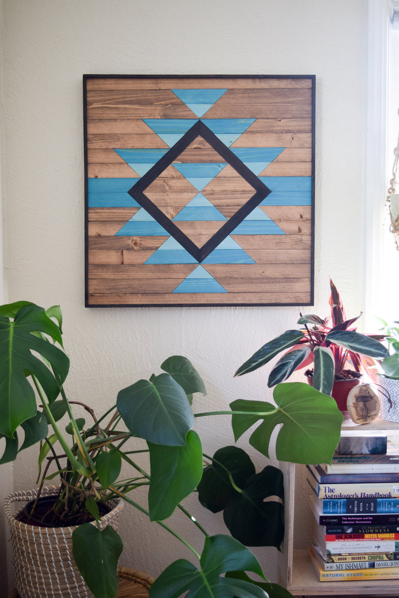 EVERLASTING TIDES Wood Wall Art - Wooden Wall Art - Geometric Wood Art - Wooden Wall Art Hanging - Modern Wood Art - Wood Wall Decor