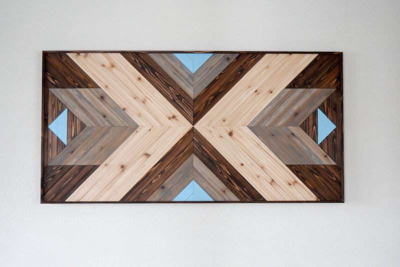 NOORD Wood Wall Art - Wooden Wall Art - Geometric Wood Art - Wooden Wall Art Hanging - Modern Wood Art - Boho Wood Art - Wood Wall Decor